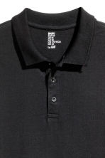 Long-sleeved polo shirt - Black - Men | H&M CN 3