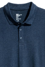 Long-sleeved polo shirt - Dark blue marl - Men | H&M CN 3