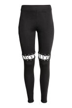 Leggings con lacci - Nero - DONNA | H&M IT 2