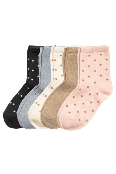 5-pack socks - Nat. white/Spotted - Kids | H&M CN 1
