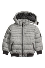 Padded jacket - Grey marl - Kids | H&M CN 2