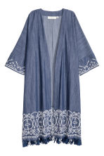 Embroidered kimono - Dark denim blue - Ladies | H&M CN 2