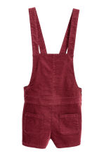 Dungaree shorts - Dark red - Ladies | H&M CN 2