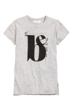 T-shirt con stampa - Light grey marl - DONNA | H&M IT 2
