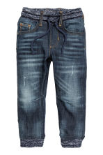 Denim joggers - Dark denim blue - Kids | H&M CN 2