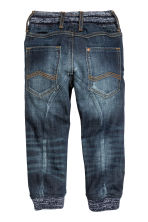 Denim joggers - Dark denim blue - Kids | H&M CN 3