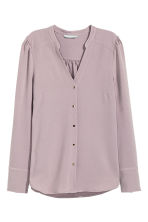 Puff-sleeved blouse - Heather purple - Ladies | H&M CN 2
