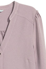 Puff-sleeved blouse - Heather purple - Ladies | H&M CN 3