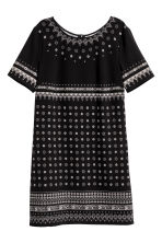 Patterned dress - Black/Patterned - Ladies | H&M CN 2