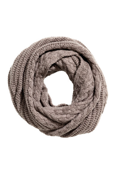 Wool-blend tube scarf - Mole - Ladies | H&M CN 1