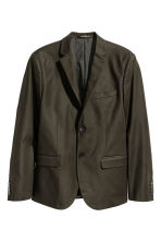 Cotton jacket - Dark khaki green - Men | H&M CN 2