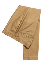 Cotton suit trousers - Dark beige - Men | H&M CN 3