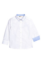 Cotton shirt - White - Kids | H&M CN 2
