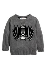 Cotton jumper - Dark grey/Bat - Kids | H&M CN 2