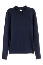 Fine-knit jumper - Dark blue - Ladies | H&M CN 2