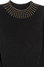 Ribbed dress - Black - Ladies | H&M CN 3