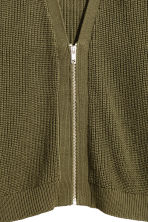 Knitted cardigan - Khaki green -  | H&M CN 3