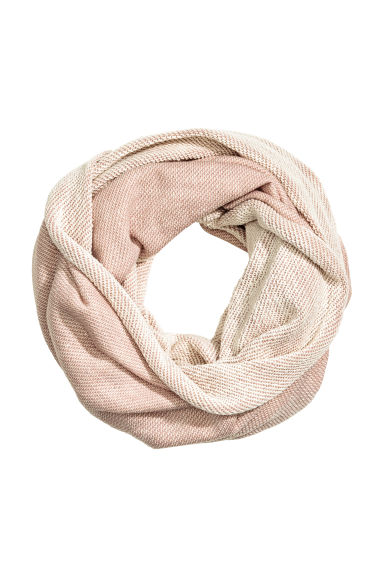 Marled tube scarf - Powder pink - Ladies | H&M CN 1