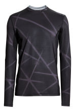 Thermal sports top - Black/Patterned - Men | H&M CA 2