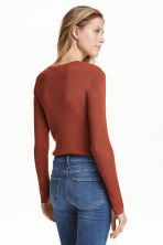 Fine-knit jumper - Rust - Ladies | H&M CN 5