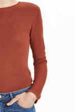 Fine-knit jumper - Rust - Ladies | H&M CN 4