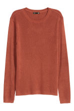 Fine-knit jumper - Rust - Ladies | H&M CN 2