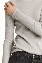 Fine-knit jumper - Light grey marl - Ladies | H&M CN 4