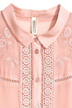 Embroidered blouse - Old rose - Ladies | H&M CN 3