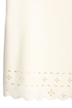 Top with a scalloped trim - Natural white - Ladies | H&M 3
