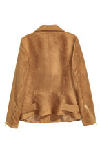 Imitation suede biker jacket - Dark camel - Ladies | H&M CA 3