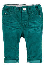 Pantaloni in velluto stretch - Petrolio - BAMBINO | H&M IT 1