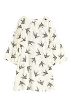 Patterned dress - Natural white/Birds - Ladies | H&M CN 2