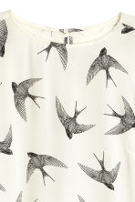 Patterned dress - Natural white/Birds - Ladies | H&M CN 3