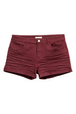 Twill shorts - Burgundy - Ladies | H&M CN 2