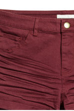 Twill shorts - Burgundy - Ladies | H&M CN 3