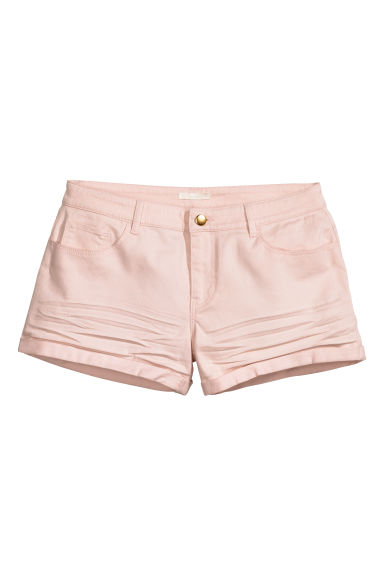 Twill shorts - Light pink - Ladies | H&M CN