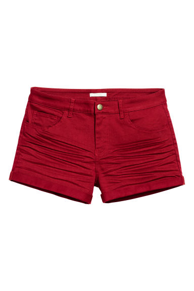 Twill shorts - Dark red - Ladies | H&M CN 1