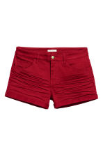 Twill shorts - Dark red - Ladies | H&M GB 1