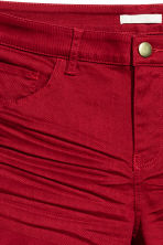 Twill shorts - Dark red - Ladies | H&M GB 2