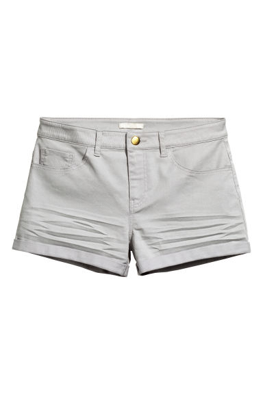 Twill shorts - Light grey - Ladies | H&M CN 1