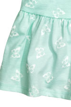 Patterned jersey dress - Mint green/Butterflies - Kids | H&M CN 2