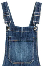 Dungaree dress - Dark denim blue - Ladies | H&M CN 4