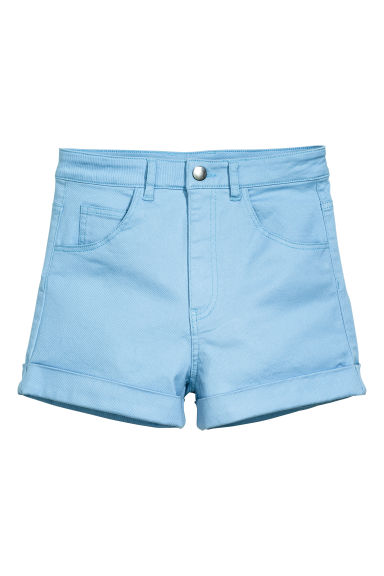 Twill shorts - Light blue - Ladies | H&M CN