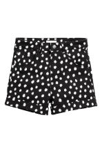 Twill shorts - Black/Spotted - Ladies | H&M CN 2