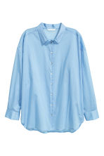 Cotton shirt - Light blue - Ladies | H&M CN 2