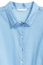 Cotton shirt - Light blue - Ladies | H&M CN 3