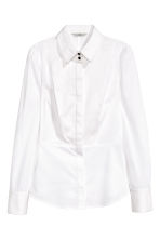 Stretch shirt with a bib front - White - Ladies | H&M CN 2