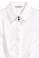 Stretch shirt with a bib front - White - Ladies | H&M CN 3