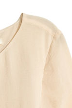 Chiffon dress - Light beige - Ladies | H&M CN 2