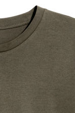 Cotton T-shirt - Khaki green - Men | H&M CN 3